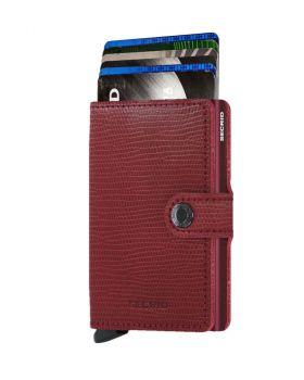 Secrid mini wallet leather Rango red bordeaux