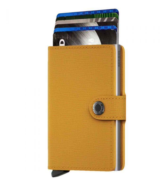 SECRID - Secrid mini wallet leather crisple amber