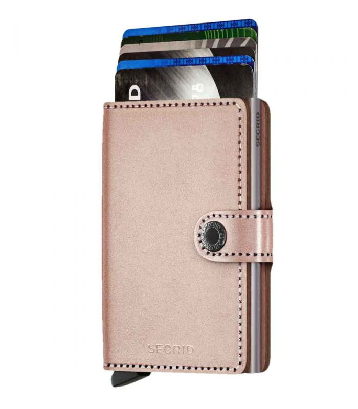 SECRID - Secrid mini wallet leather metallic rose