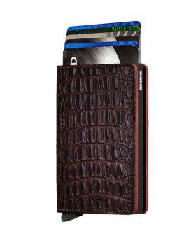 Secrid slim wallet leather Nile brown
