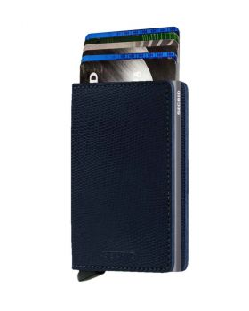 Secrid slim wallet leather Rango blue titanium