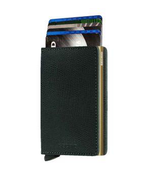 Secrid slim wallet leather Rango green gold