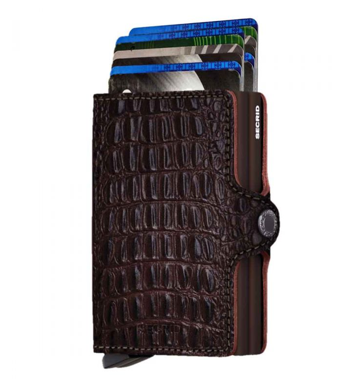 SECRID - Secrid twin wallet leather Nile brown