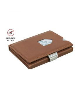 Exentri slim wallet leather Solid Hazelnut with RFID block