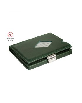 Exentri slim wallet leather Emerald green with RFID block