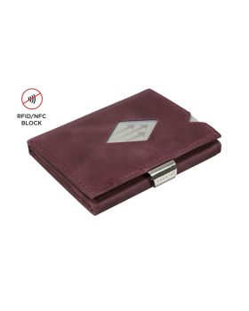 Exentri slim wallet leather purple with RFID block