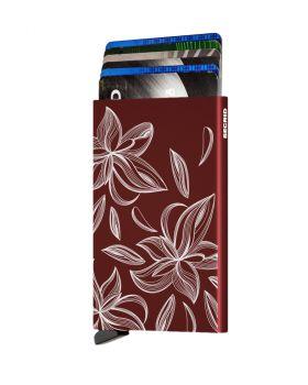 Secrid card protector aluminium magnolia bordeaux laser