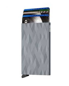 Secrid card protector aluminium in color titanium zigzag laser