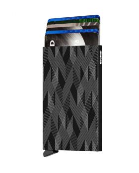 Secrid card protector aluminium in color black zigzag laser