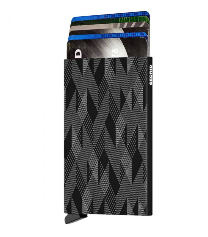 SECRID - Secrid card protector aluminium in color black zigzag laser