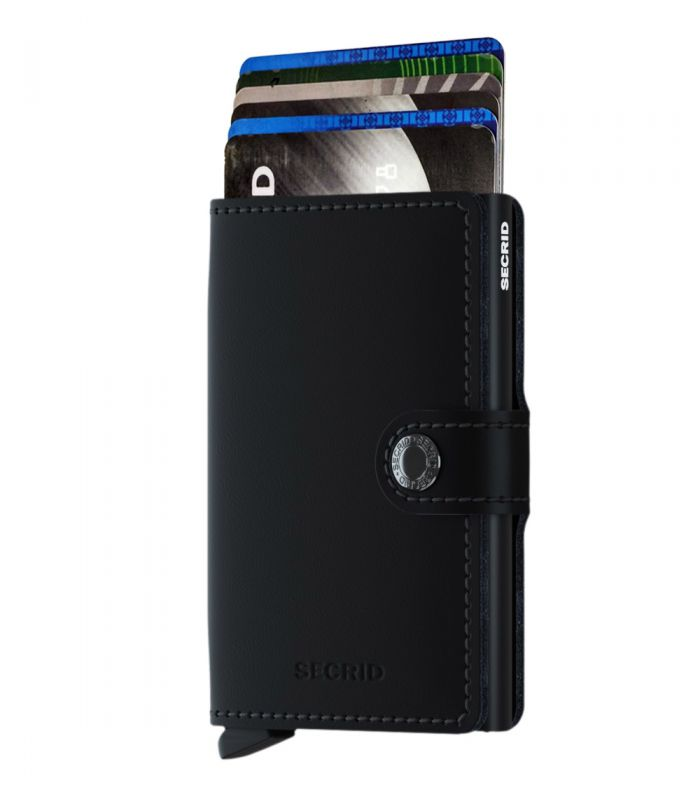 SECRID - Secrid mini wallet leather matte black-black