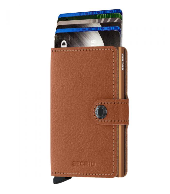 SECRID - Secrid mini wallet leather veg caramello