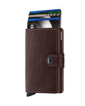 Secrid mini wallet leather veg espresso