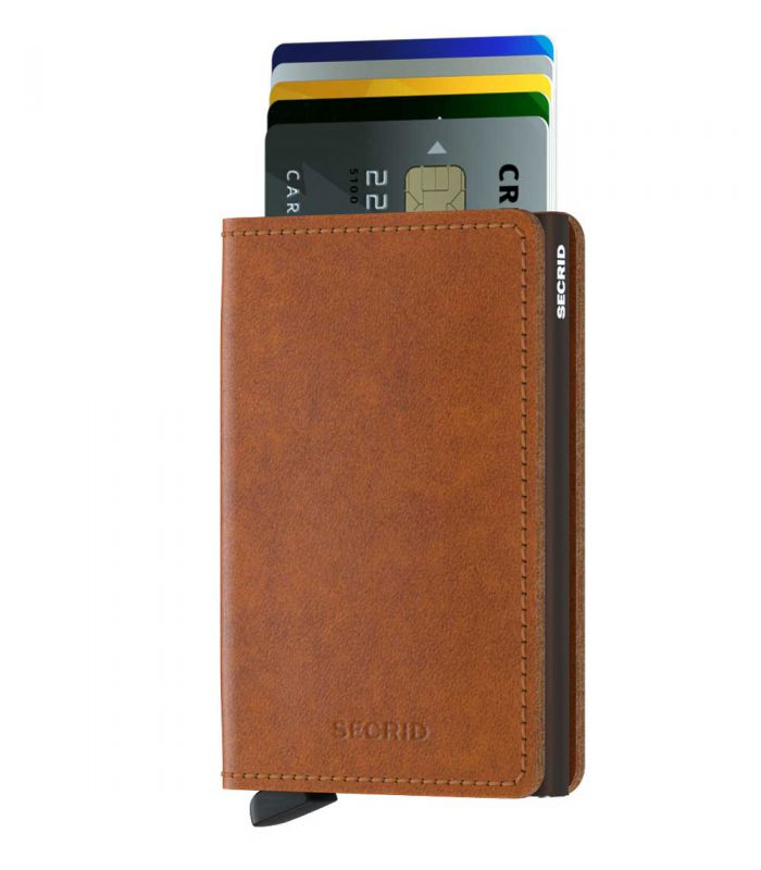 SECRID - Secrid slim wallet leather original cognac brown