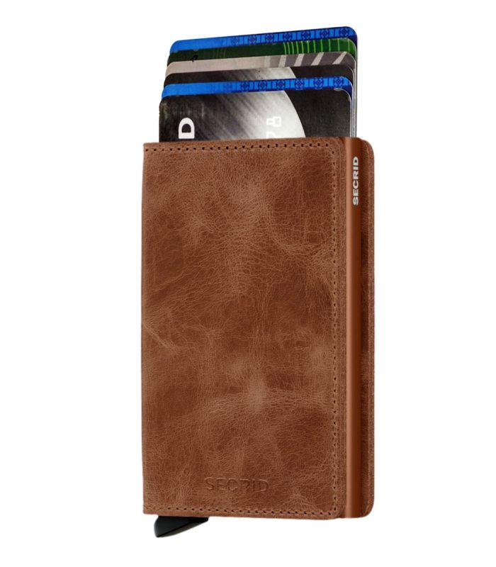 SECRID - Secrid slim wallet leather vintage cognac-rust