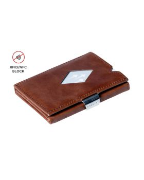 Exentri multi wallet leather Hazelnut with RFID block and coin compartment