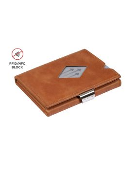 Exentri multi wallet leather Sand with RFID block and coin compartment