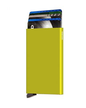 Secrid card protector aluminium in color lime