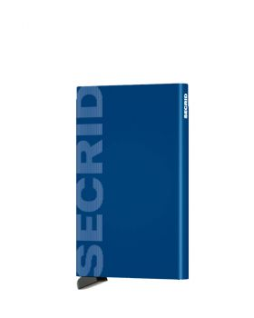 Secrid card protector aluminium in color blue lasered Secrid logo
