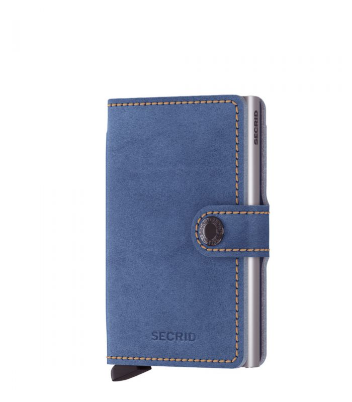 Secrid mini wallet leather Indigo 3