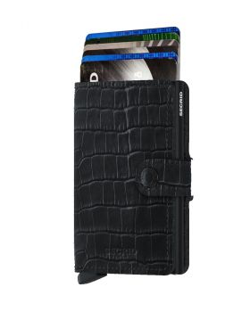 Secrid mini wallet leather Cleo black