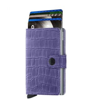 Secrid mini wallet leather Cleo lavender