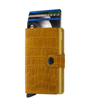 Secrid mini wallet leather Cleo ochre