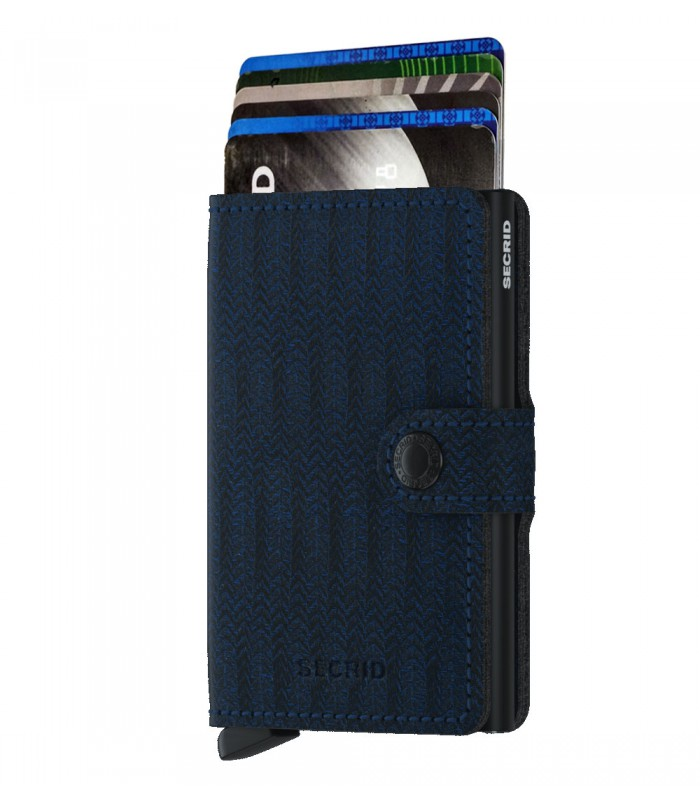 Secrid mini wallet leather dash navy