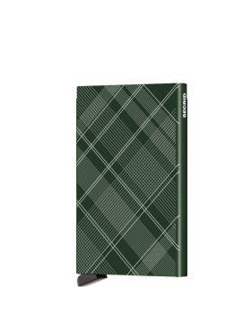 Secrid card protector aluminium tartan green laser