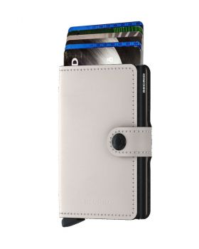 Secrid mini wallet leather matte chalk