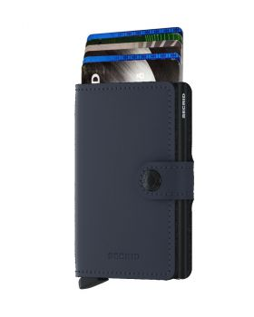 Secrid mini wallet leather matte night blue
