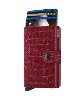 Secrid mini wallet leather Nile ruby