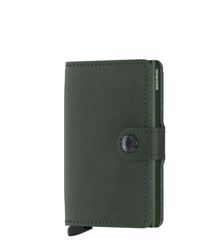 Secrid mini wallet leather original green