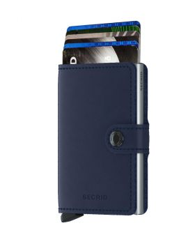 Secrid mini wallet leather original navy