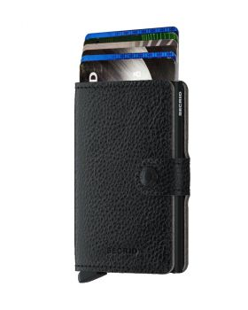 Secrid mini wallet leather veg black