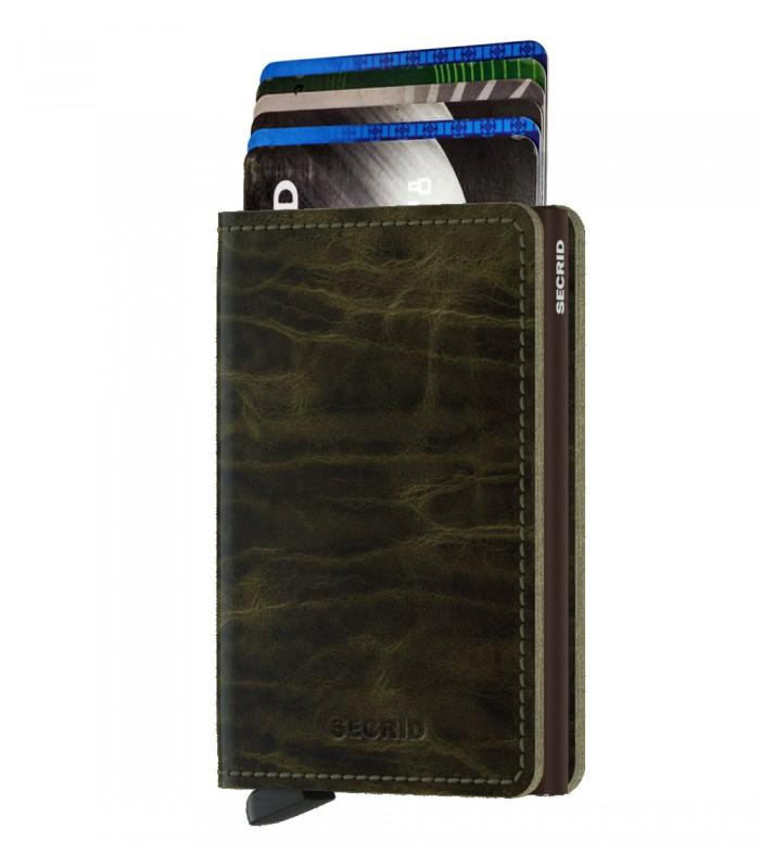 Secrid slim wallet leather Dutch Martin olive