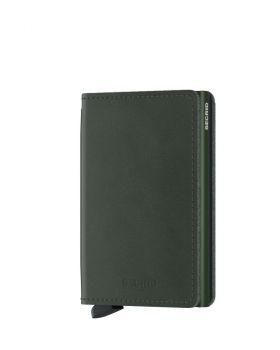 Secrid slim wallet leather original green