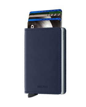 Secrid slim wallet leather original navy