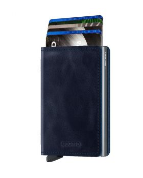 Secrid slim wallet leather vintage blue
