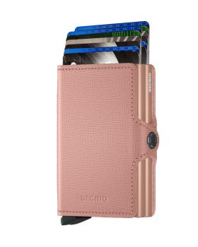 Secrid twin wallet leather crisple rose floral
