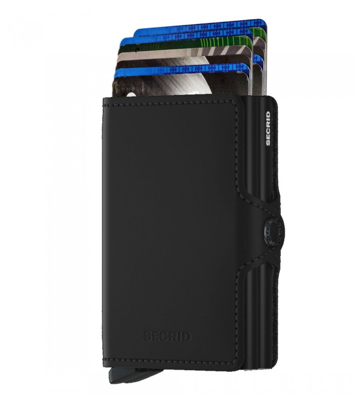 Secrid twin wallet leather matte black