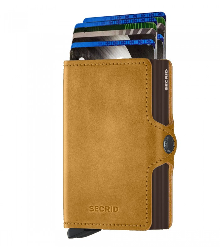 Secrid twin wallet leather vintage ochre