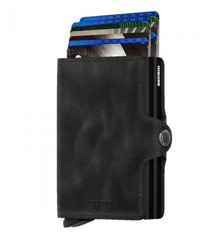 SECRID - Secrid twin wallet leather vintage black