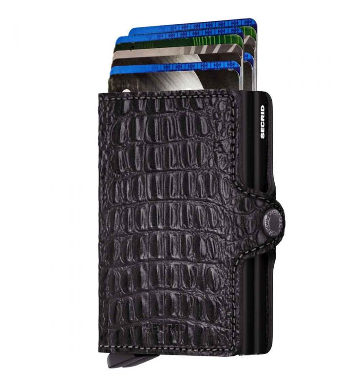 SECRID - Secrid twin wallet leather Nile black