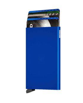 Secrid card protector aluminium in color cobalt blue