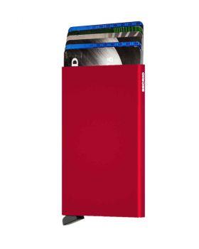 Secrid card protector aluminium in color red