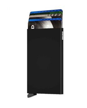 Secrid card protector aluminium in color black