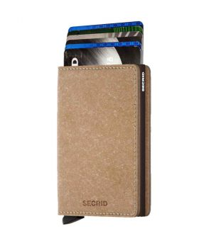Secrid slim wallet leather recycled natural