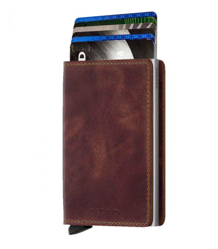 SECRID - Secrid slim wallet leather vintage brown
