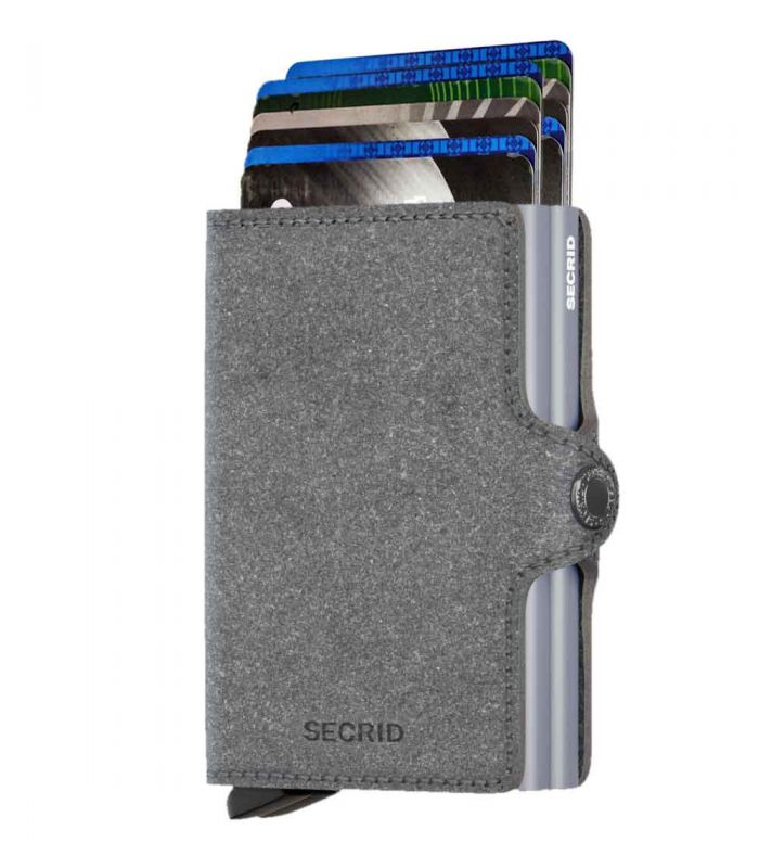 SECRID - Secrid twin wallet leather recycled stone